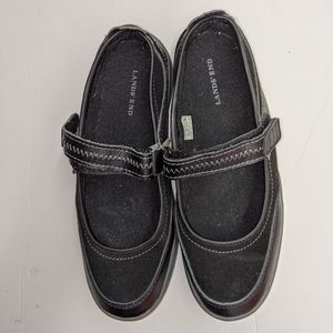 Lands End Black Mary Janes Size 5 1/2